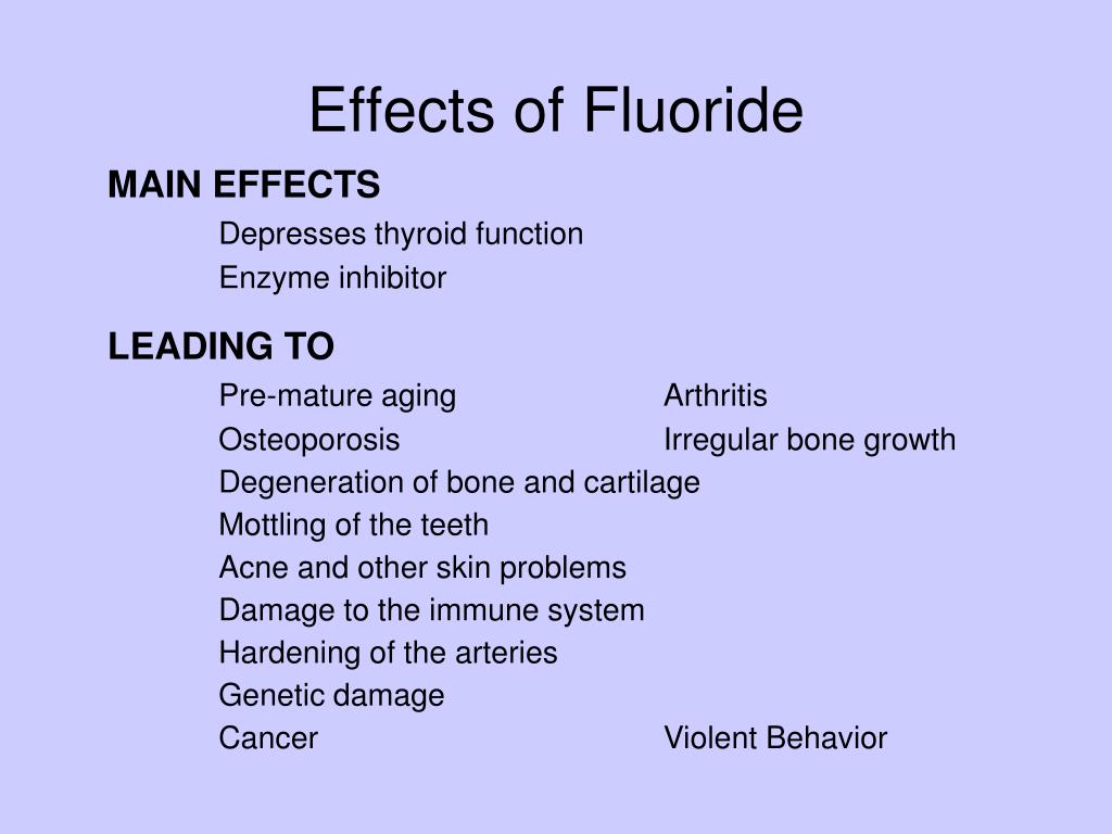 Effects of Fluoride