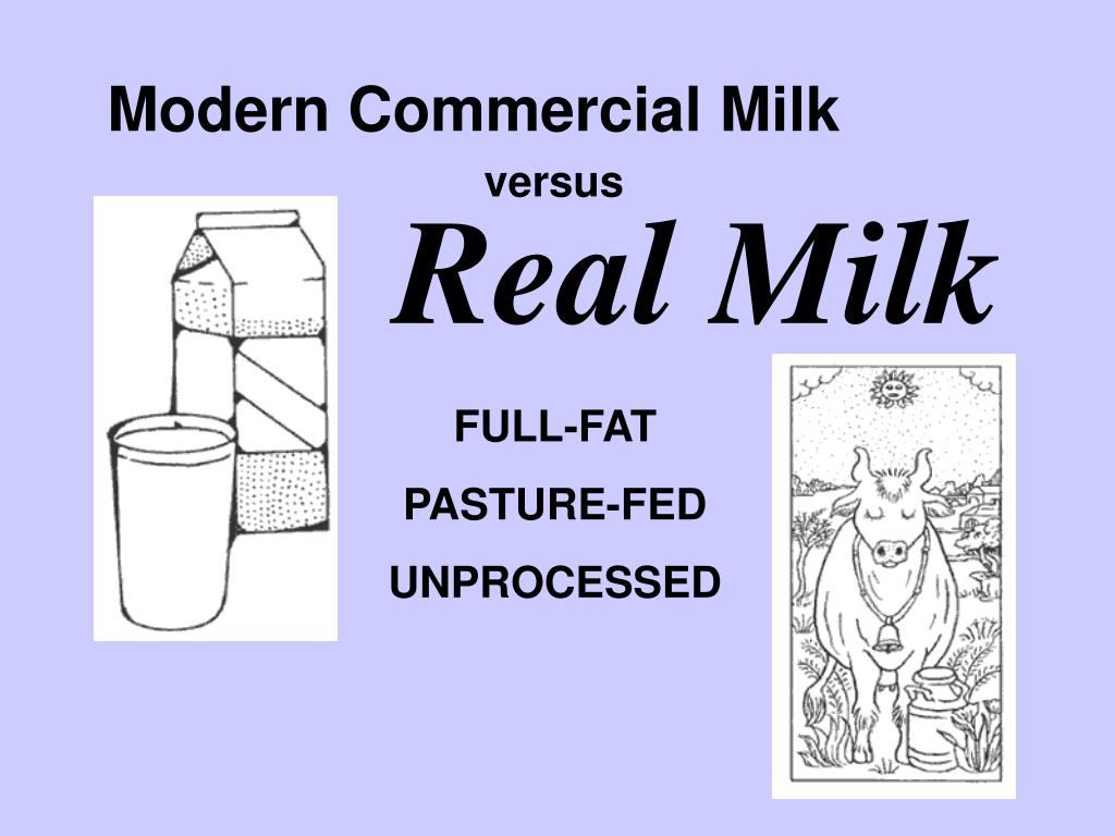 Modern vs real milk