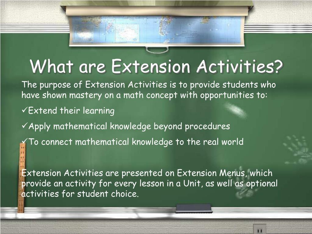 What are Extension Activities?