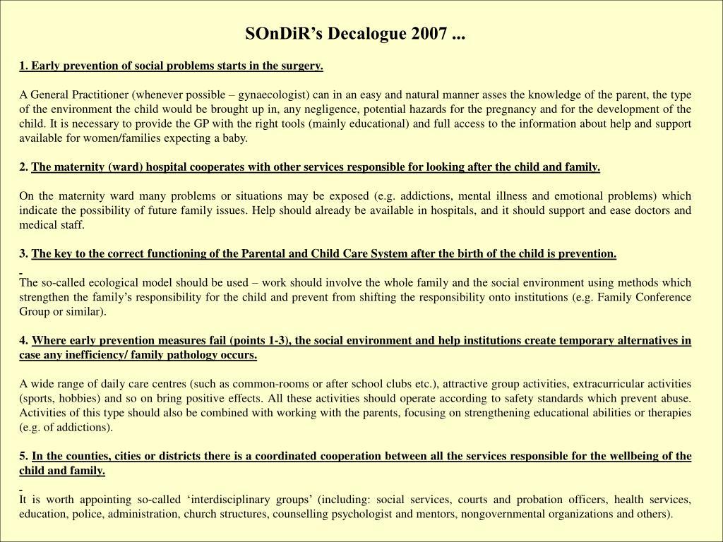 SOnDiR's Decalogue 2007