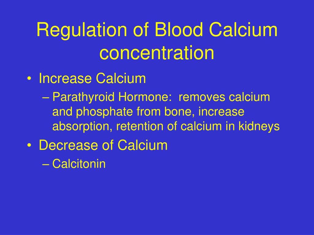 Regulation of Blood Calcium concentration