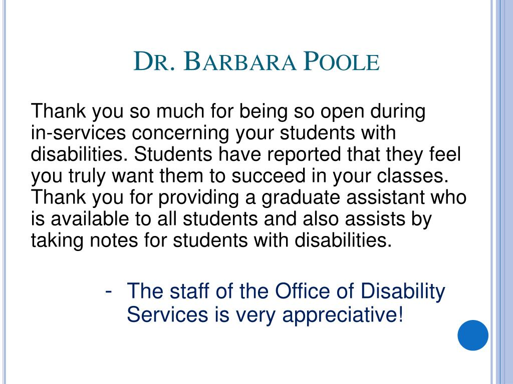 Dr. Barbara Poole