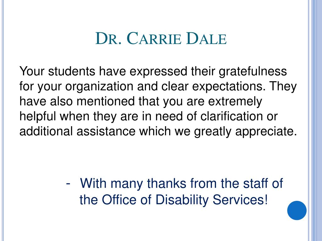 Dr. Carrie Dale