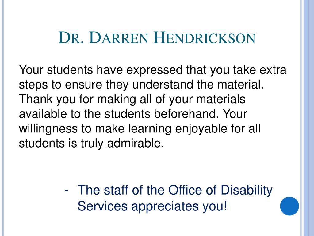 Dr. Darren Hendrickson