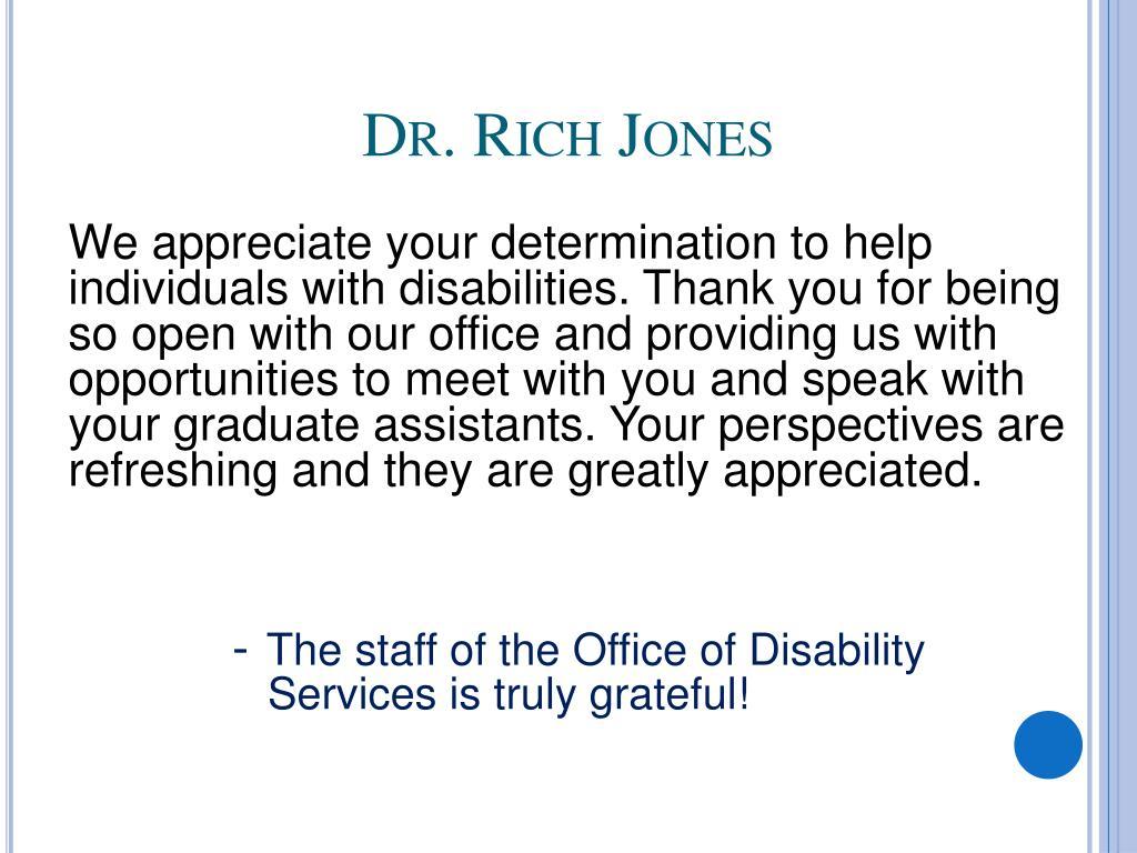 Dr. Rich Jones