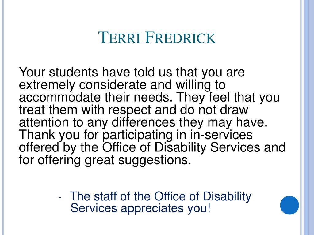 Terri Fredrick