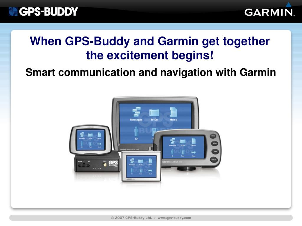 When GPS-Buddy and Garmin get together