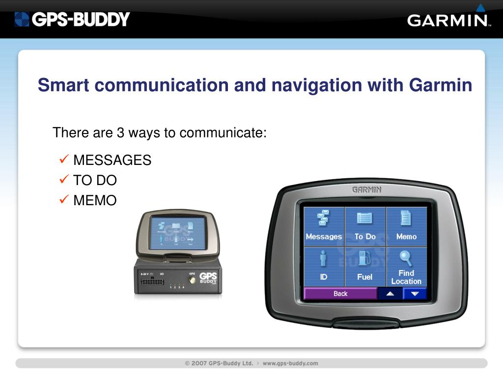 Smart communication and navigation with Garmin
