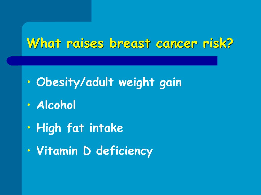 What raises breast cancer risk?