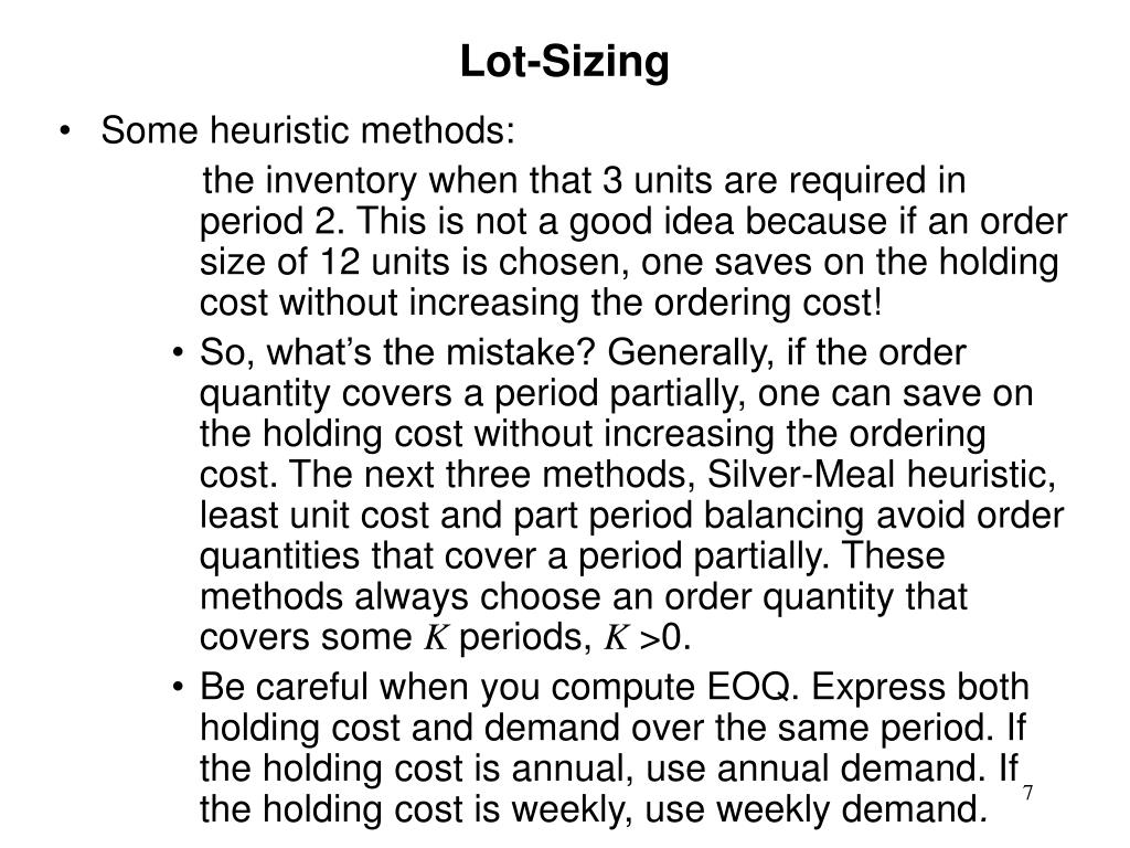 Lot-Sizing
