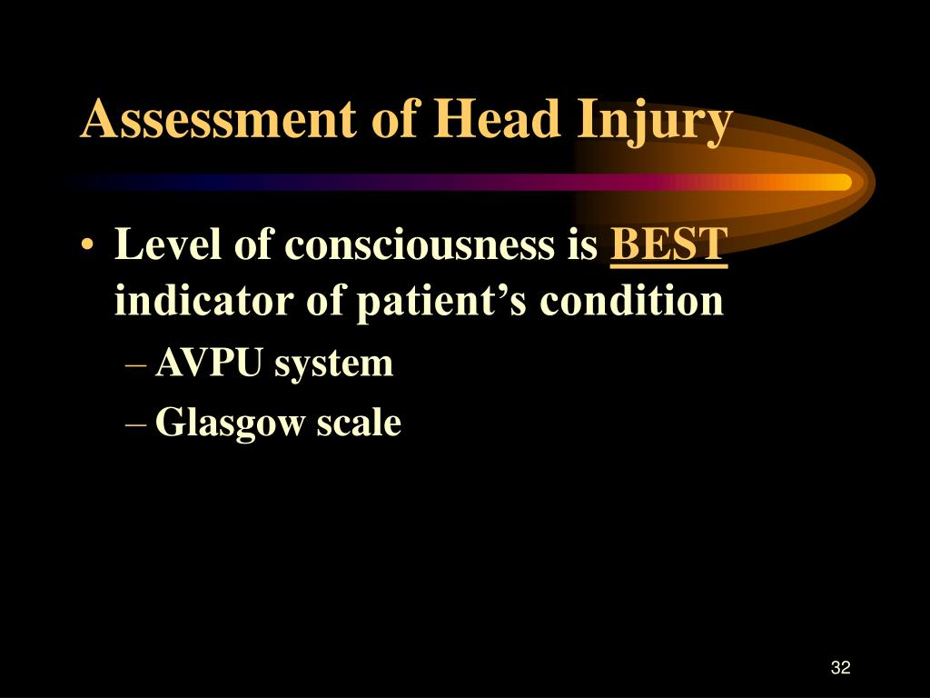 Assessment of Head Injury