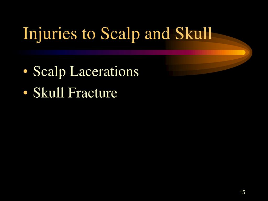 Injuries to Scalp and Skull