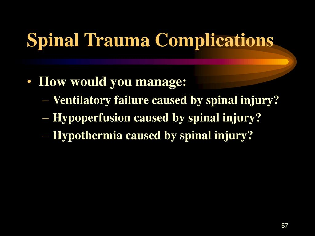 Spinal Trauma Complications