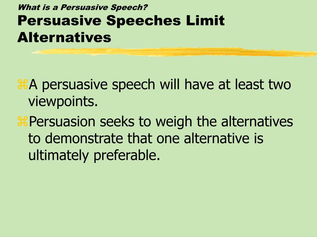 persussasive speech