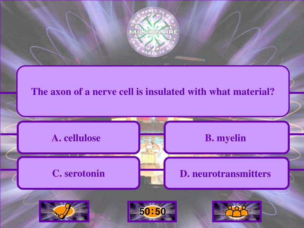 The axon of a nerve cell is insulated with what material?