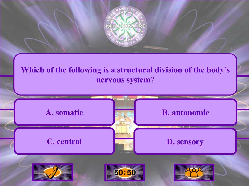 Which of the following is a structural division of the body's nervous system