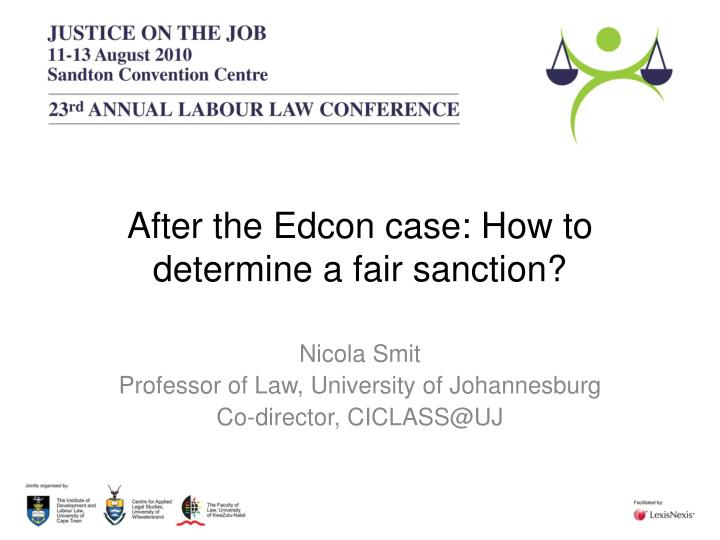 After the edcon case how to determine a fair sanction