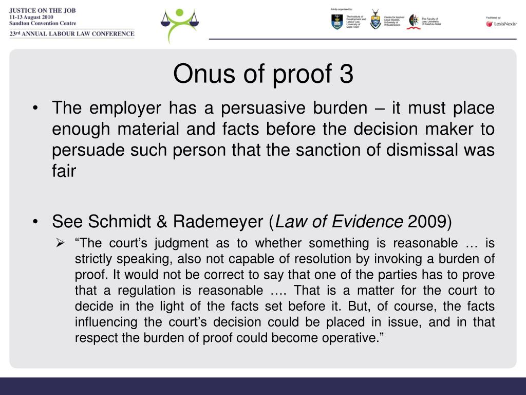 Onus of proof 3