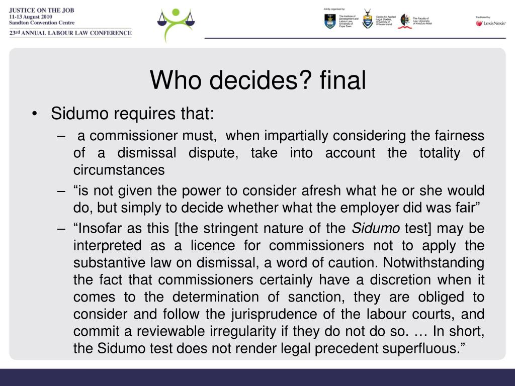 Who decides? final