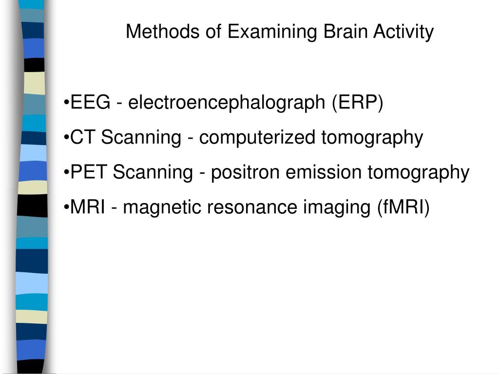 Methods of Examining Brain Activity