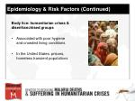 epidemiology risk factors continued17