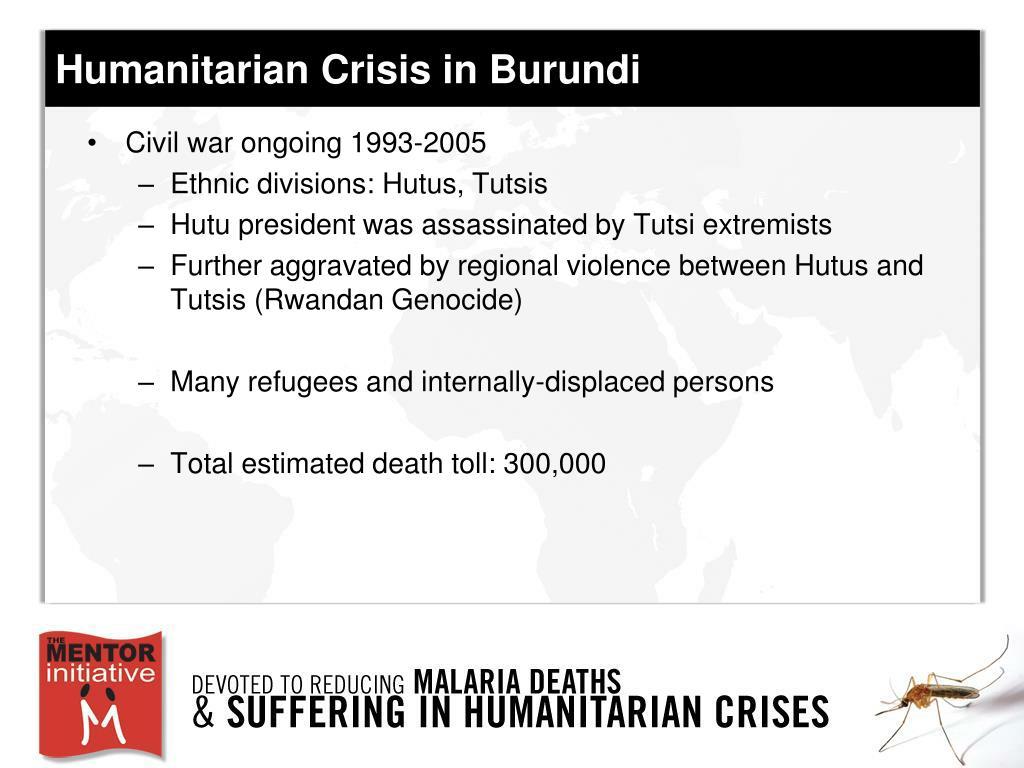 Humanitarian Crisis in Burundi