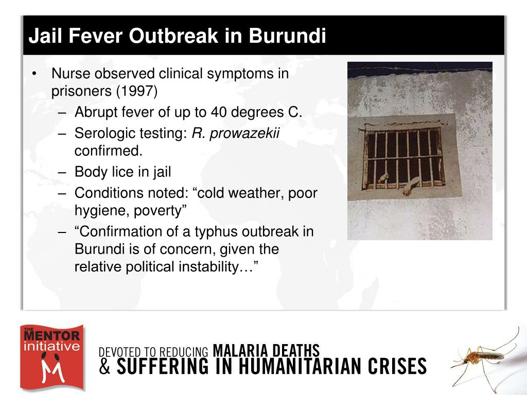 Jail Fever Outbreak in Burundi