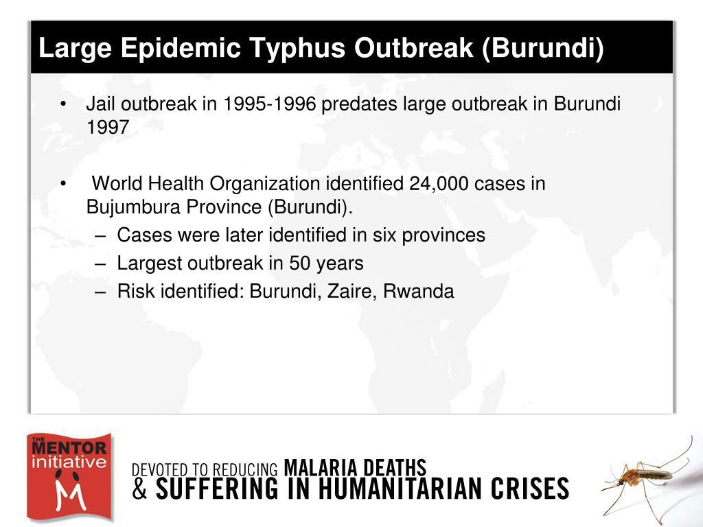 Large Epidemic Typhus Outbreak (Burundi)