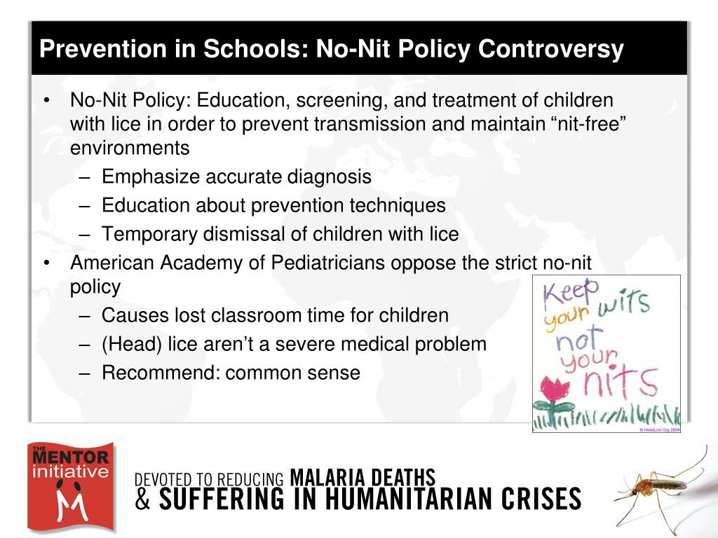 Prevention in Schools: No-Nit Policy Controversy