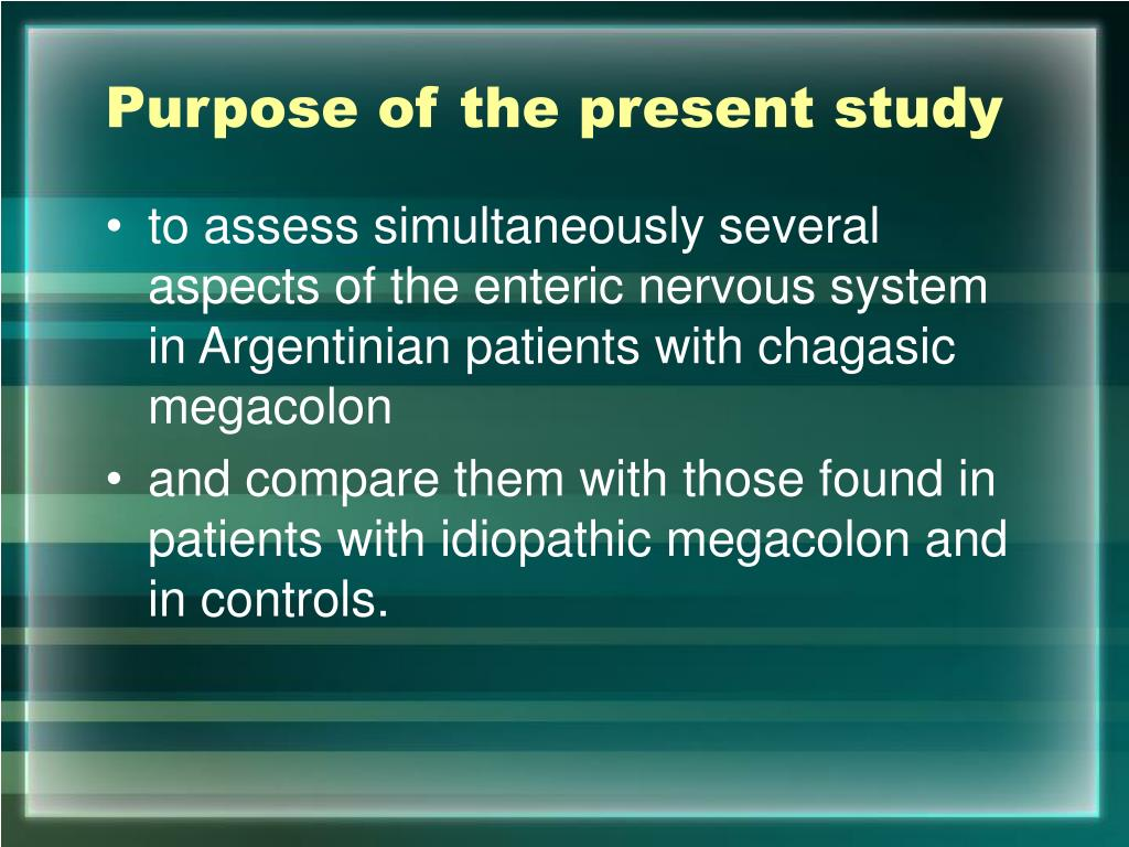 Purpose of the present study