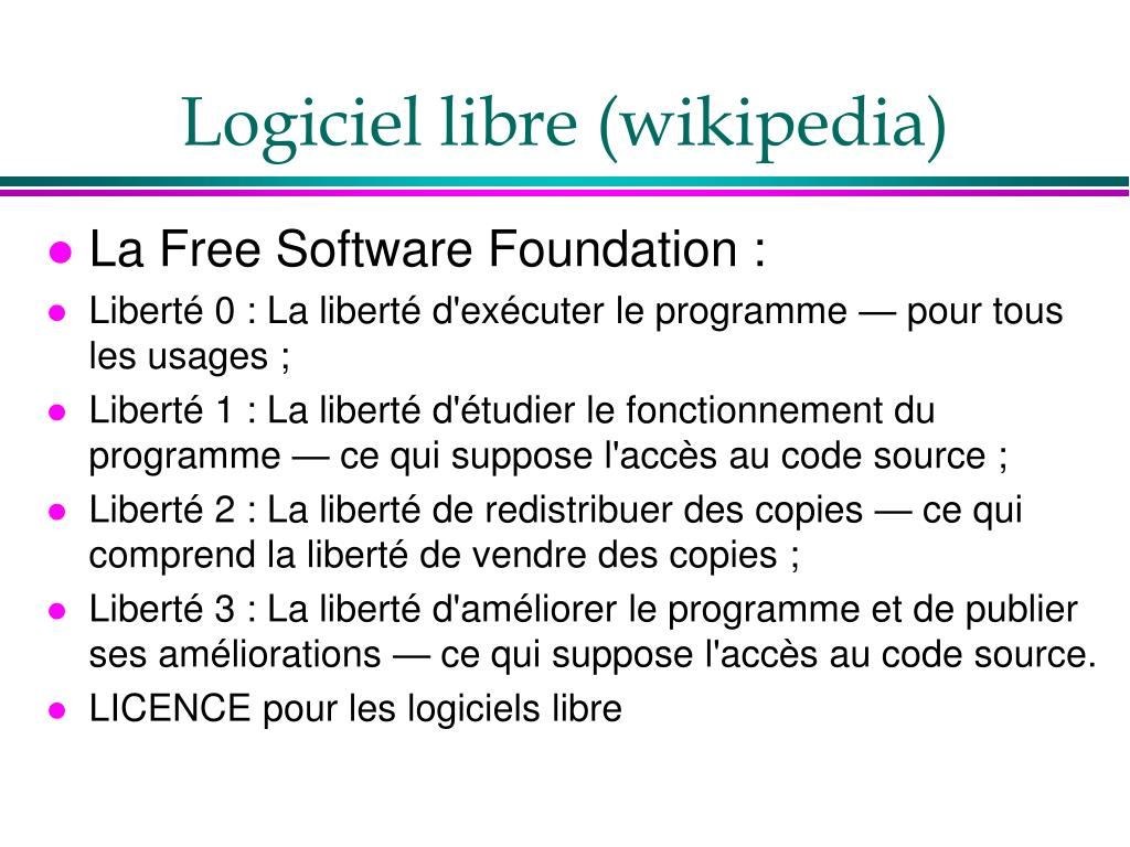 Logiciel libre (wikipedia)