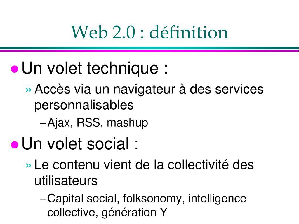 Web 2.0 : définition