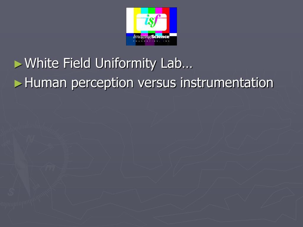 White Field Uniformity Lab…