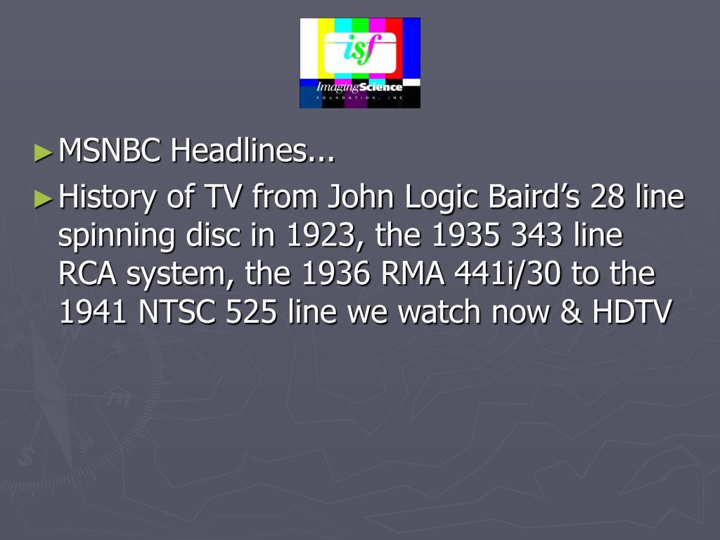 MSNBC Headlines...