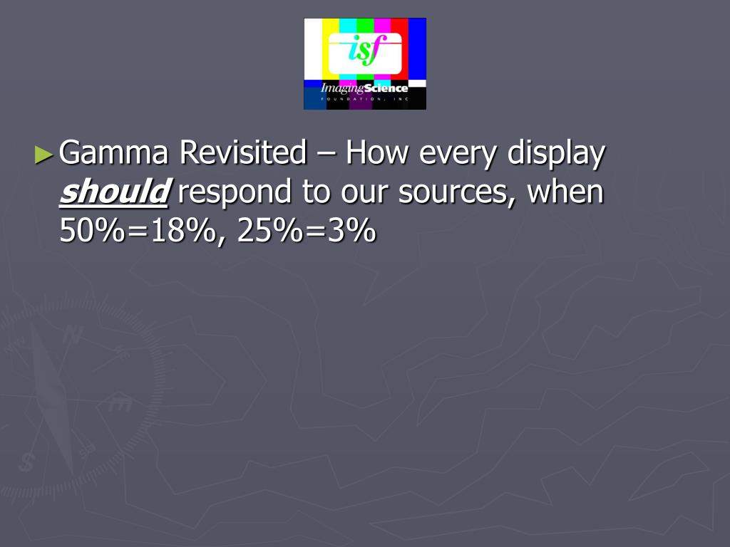Gamma Revisited – How every display