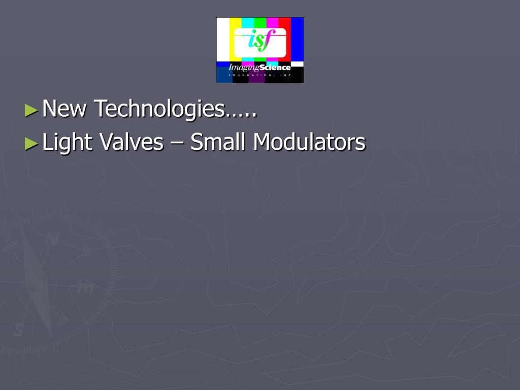 New Technologies…..