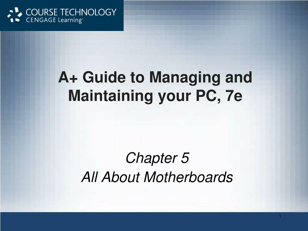 a guide to managing and maintaining your pc 7e