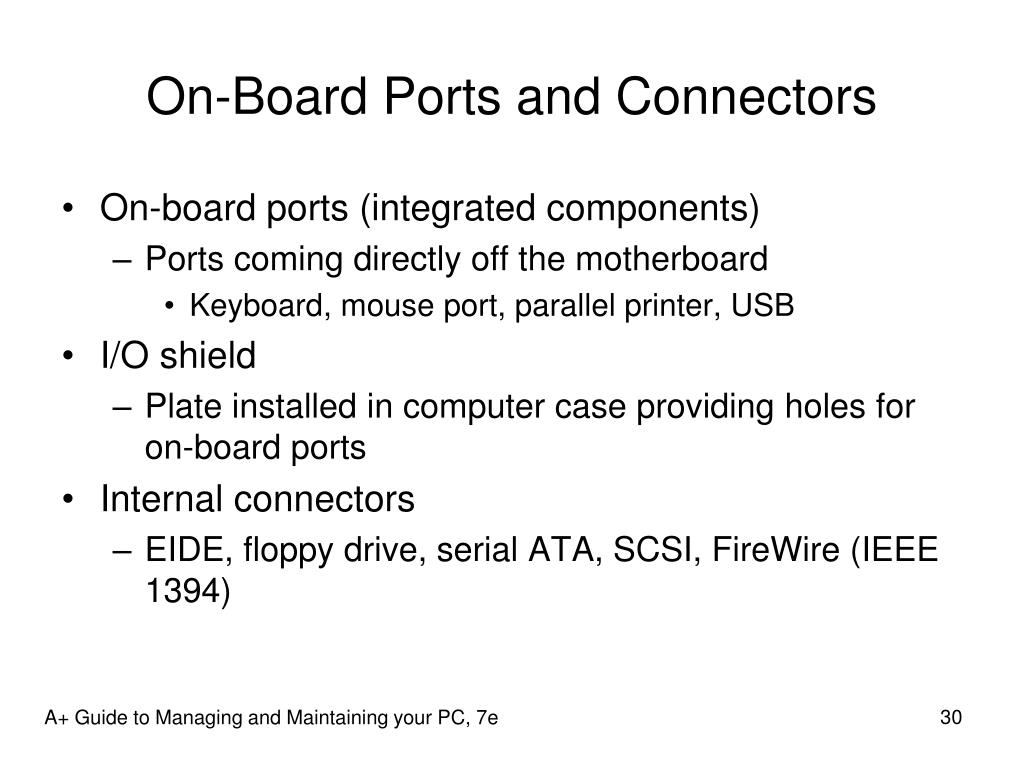 On-Board Ports and Connectors