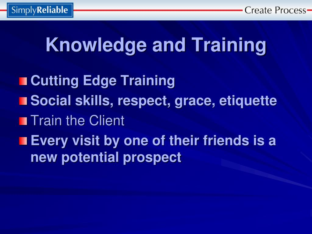 Knowledge and Training