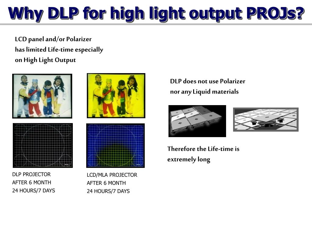 Why DLP for high light output PROJs?