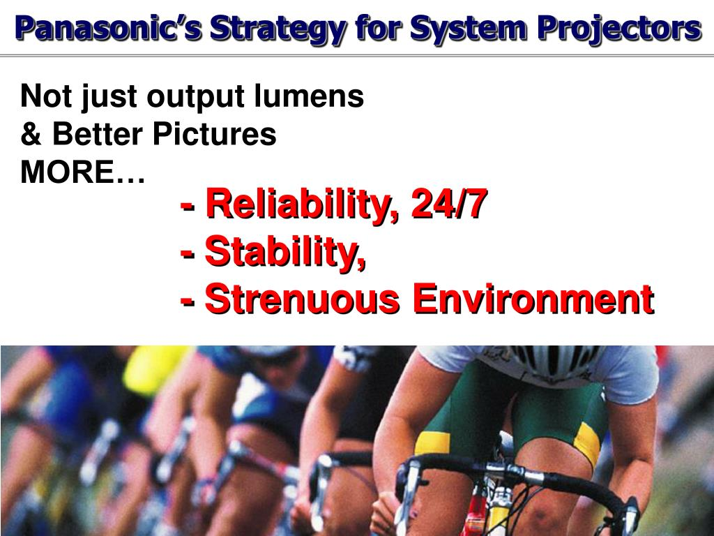 Panasonic's Strategy for System Projectors