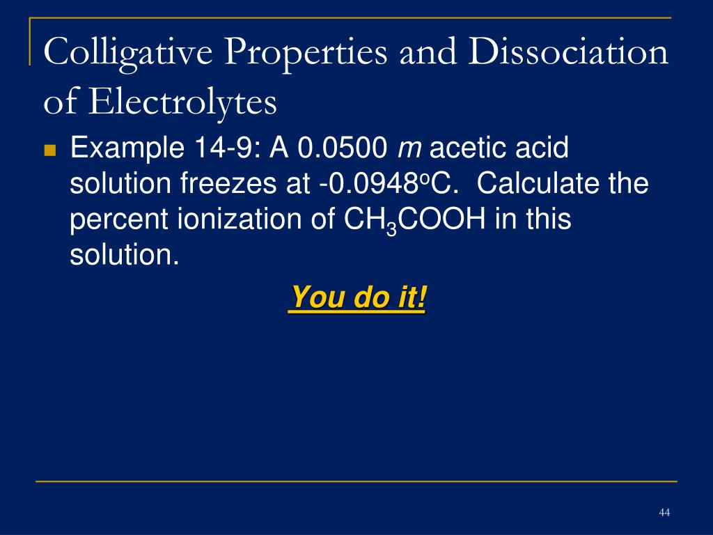 colligative properties and osmotic pressure As we will see, the vapor pressure and osmotic pressure of solutions are also  colligative properties when we determine the number of particles in a solution, it  is.