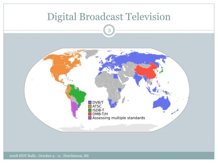 Digital broadcast television