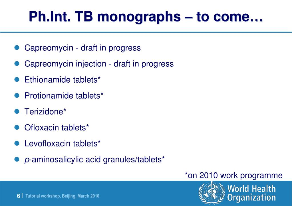 Ph.Int. TB monographs – to come…