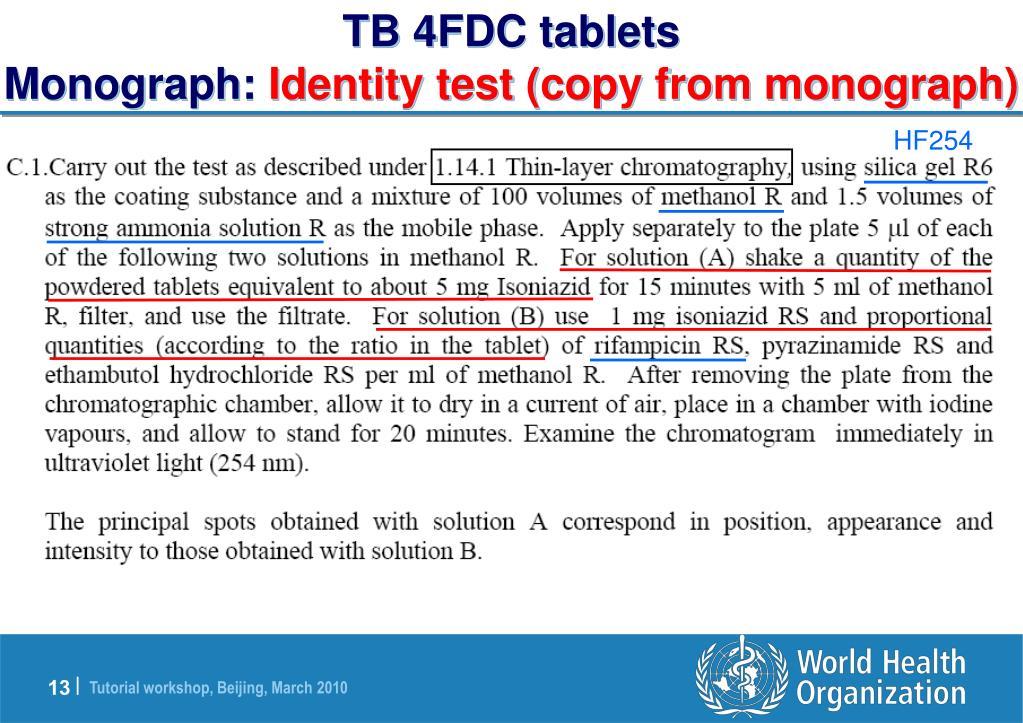 TB 4FDC tablets
