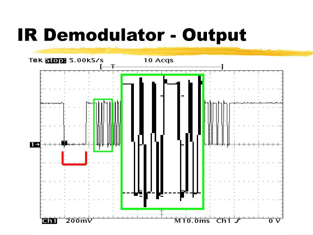 IR Demodulator - Output