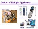 control of multiple appliances