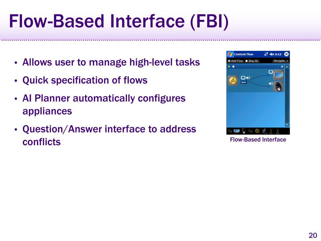 Flow-Based Interface (FBI)