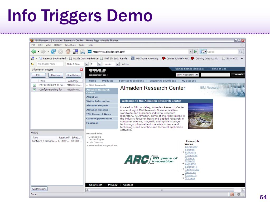 Info Triggers Demo