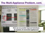 the multi appliance problem cont
